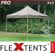 Flex canopy PRO 3x3 m Camouflage/Military