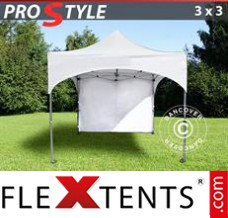 "Flex canopy PRO ""Arched"" 3x3 m White, incl. 4 sidewalls"