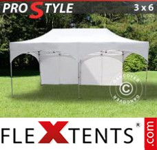 "Flex canopy PRO ""Arched"" 3x6 m White, incl. 6 sidewalls"