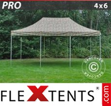 Flex canopy PRO 4x6 m Camouflage/Military