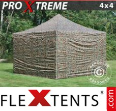 Flex canopy Xtreme 4x4 m Camouflage/Military, incl. 4 sidewalls