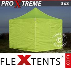 Flex canopy Xtreme 3x3 m Neon yellow/green, incl. 4 sidewalls